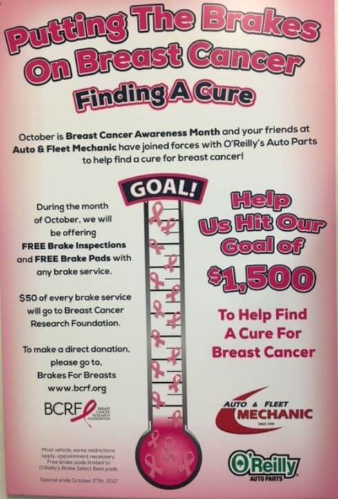 Putting the Brakes on Breast Cancer Campaign | Auto & Fleet Mechanic